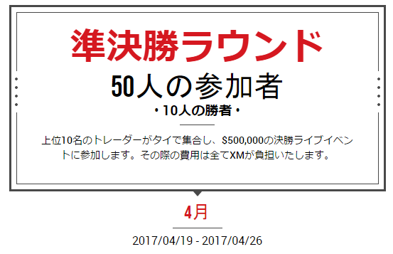 XMコンテスト準決勝